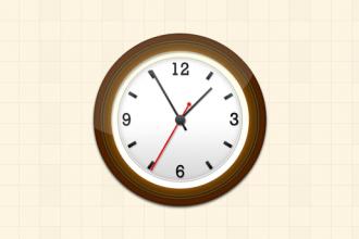 Create a pretty nice wall clock in Photoshop