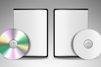 Blank DVD CD template (PSD)