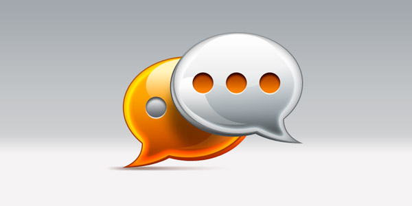 comments / speech bubble icon (PSD)
