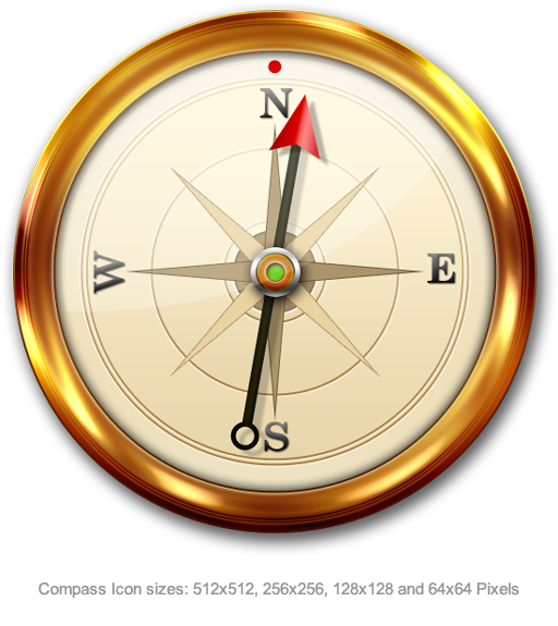 Compass Icon Psd Graphicsfuel