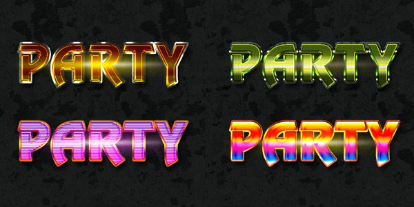 Free Photoshop party text style