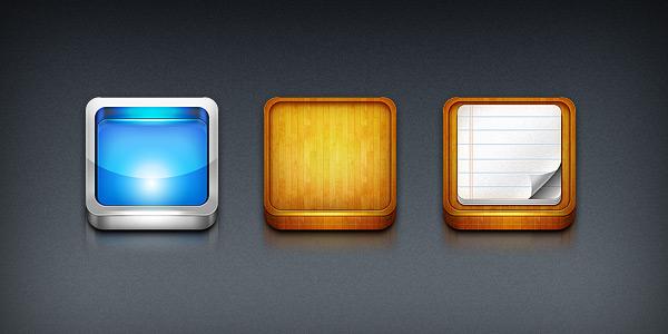 iPhone app icon templates (PSD)