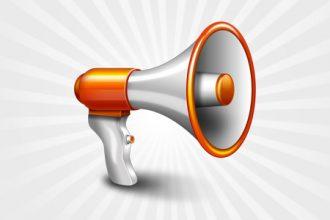 Megaphone icon (vector PSD)