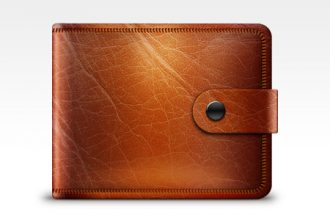Leather wallet icon (PSD)