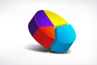 3D pie chart icon