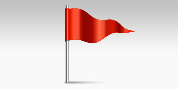 Waving flag icon (PSD)