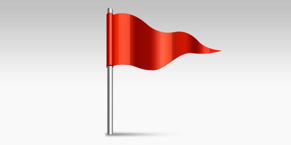 Waving flag icon (PSD)