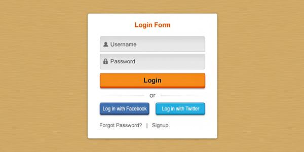 Pretty clean login form (PSD)