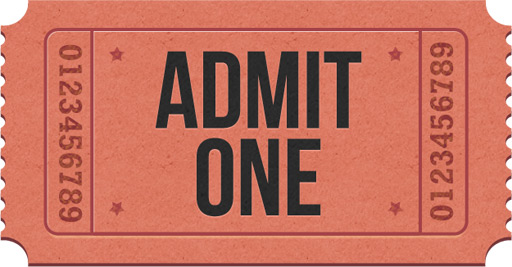 Admitone ticket icons PSD GraphicsFuel – Admit One Ticket Template Free