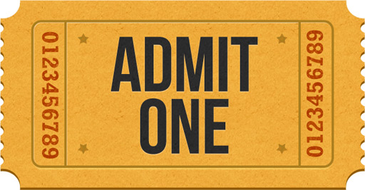 Admit One Ticket Icons Psd Graphicsfuel