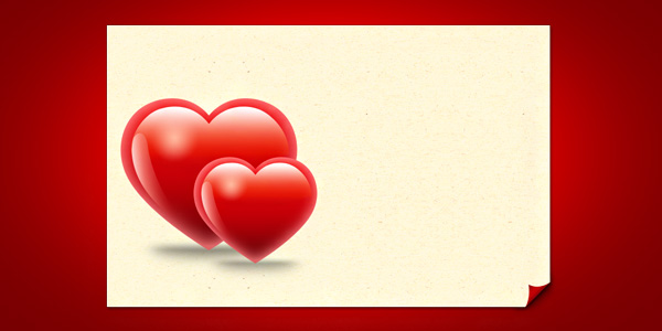 Valentine hearts card template PSD GraphicsFuel – Valentines Card Template