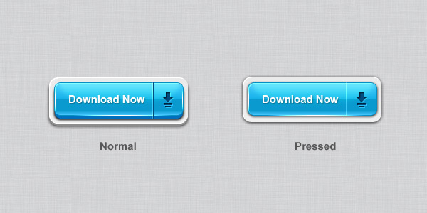 3D download buttons (PSD)