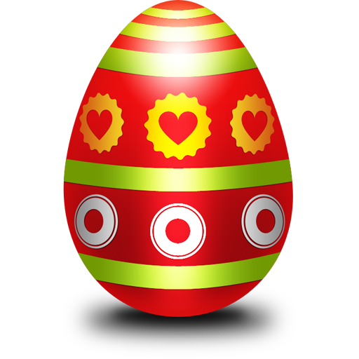 Easter egg PSD template GraphicsFuel