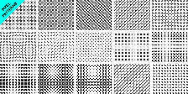 40 Pixel Patterns GraphicsFuel Simple Pixel Patterns