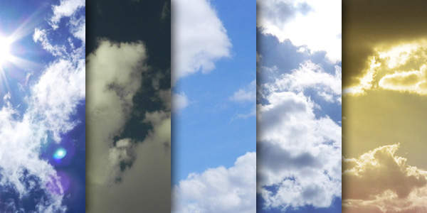 High resolution clouds texture pack