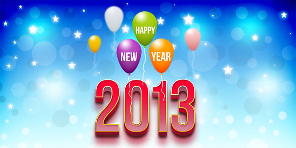 Happy New Year 2013 (PSD)