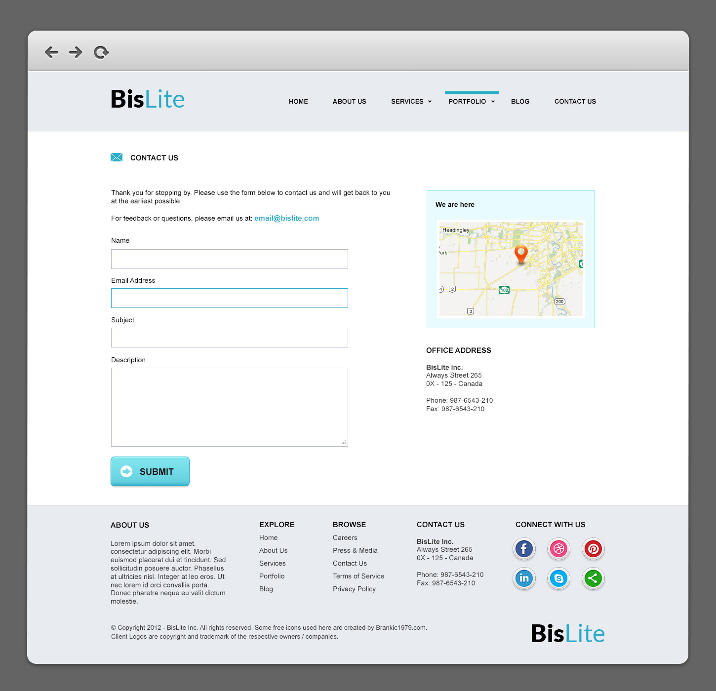 Bislite business website psd templates graphicsfuel author rafi accmission Gallery