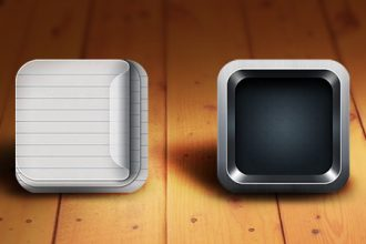Retina-Ready iOS App Icon Templates (PSD)