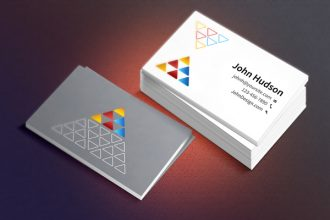 Business Card Template & Mockup PSD