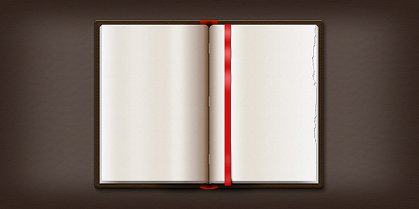 Opened Leather Book (PSD)
