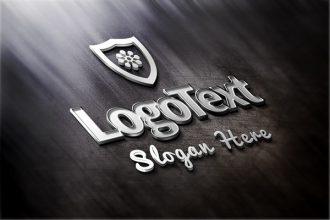 Elegant Metallic Logo Mockup (PSD)