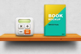 Wooden Shelf Display Mockup (PSD)