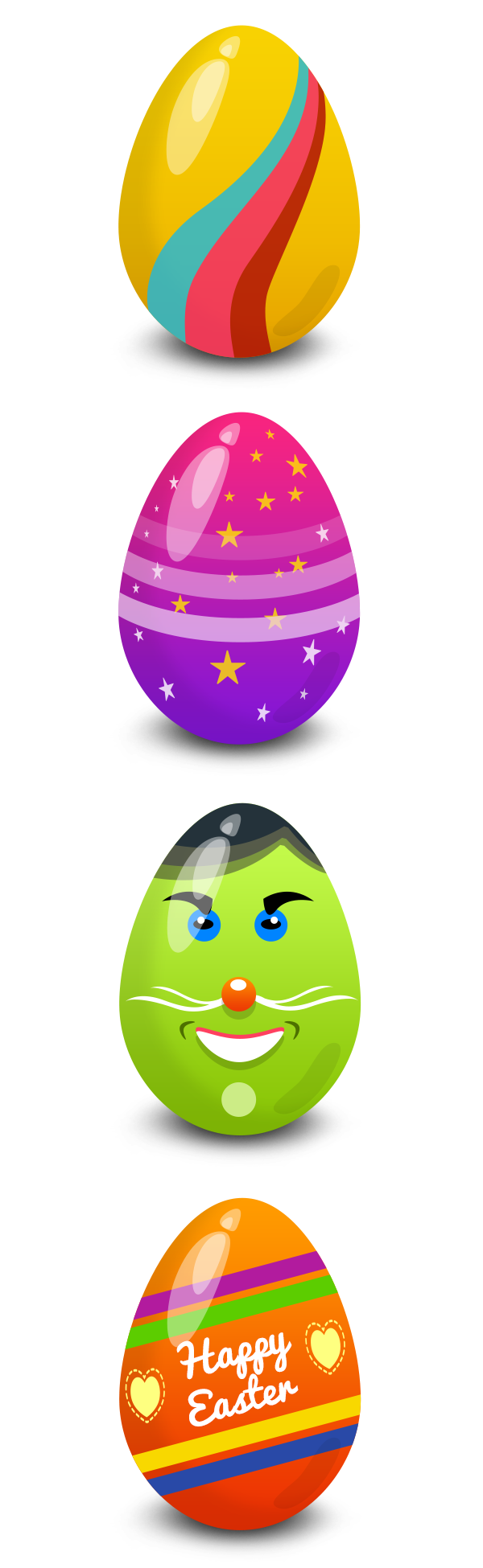 Easter Eggs Vector PSD - GraphicsFuel