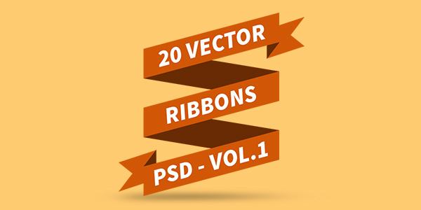 PSD Vector Ribbons Vol.1
