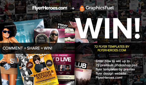 Giveaway 72 Photoshop Psd Nightclub Flyer Templates From