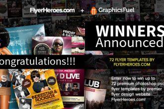 Winners Announced: 72 Photoshop PSD Nightclub Flyer Templates From FlyerHeroes