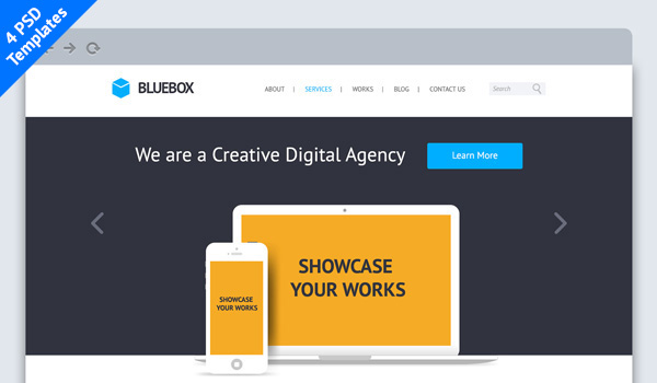 bluebox-psd-template