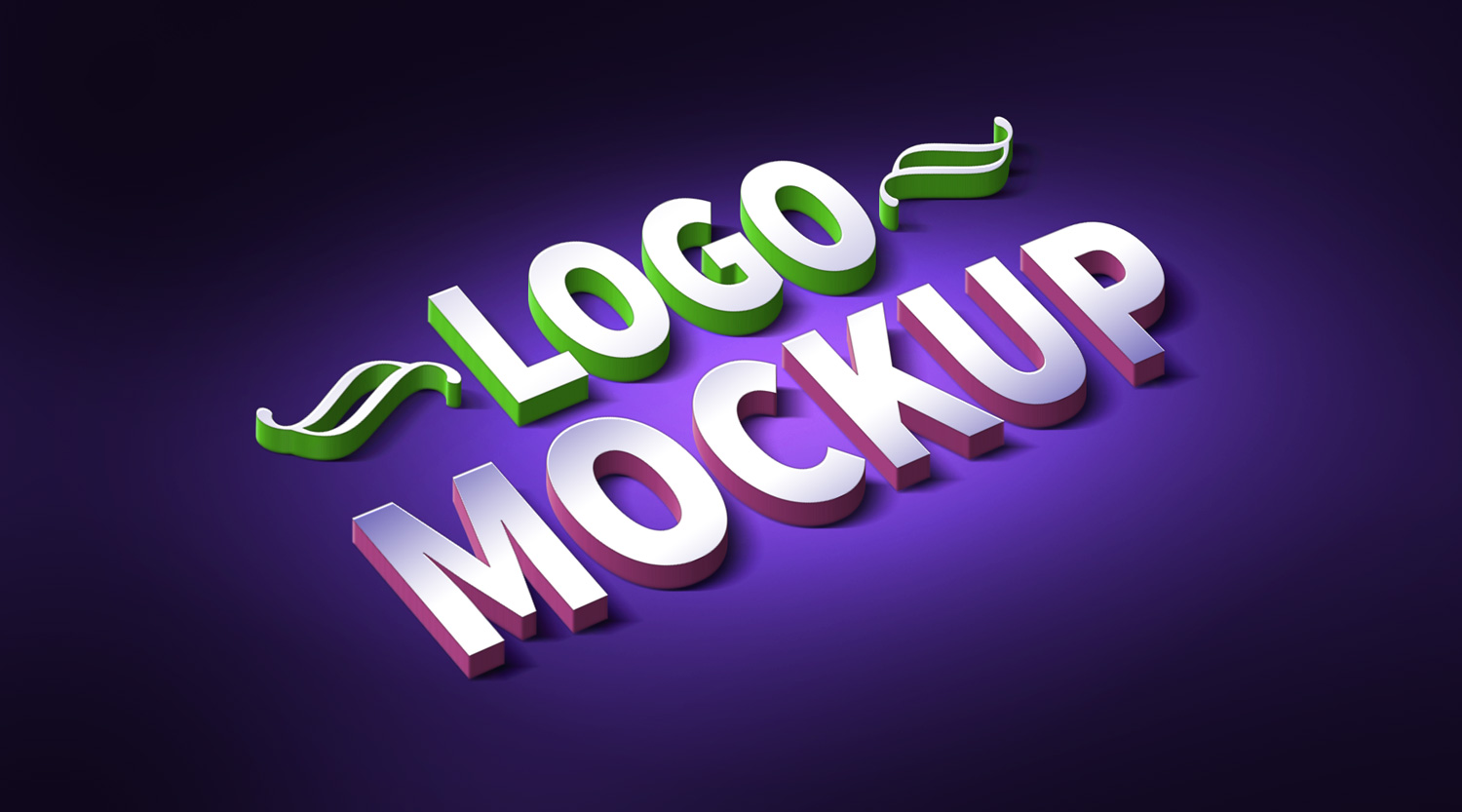 3d Logo Text Effect Mockup Psd Graphicsfuel