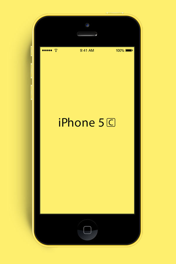 yellow iphone 5c new iphone 5c psd mockup graphicsfuel 13332
