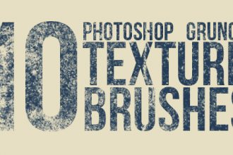 10 Grunge Texture Brushes For Photoshop