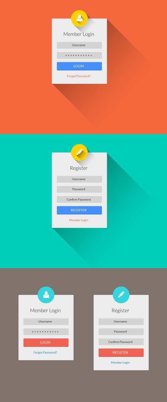 flat-login-register-ui