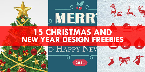 15 Christmas & New Year Design Freebies - GraphicsFuel