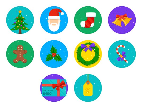 christmas-round-icons