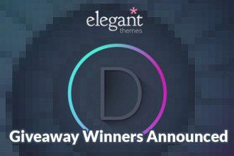 ElegantThemes Giveaway Winners Announced