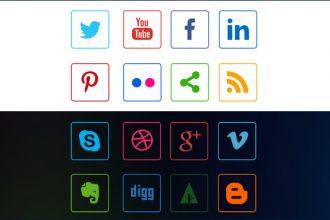 Social Media Line Icons