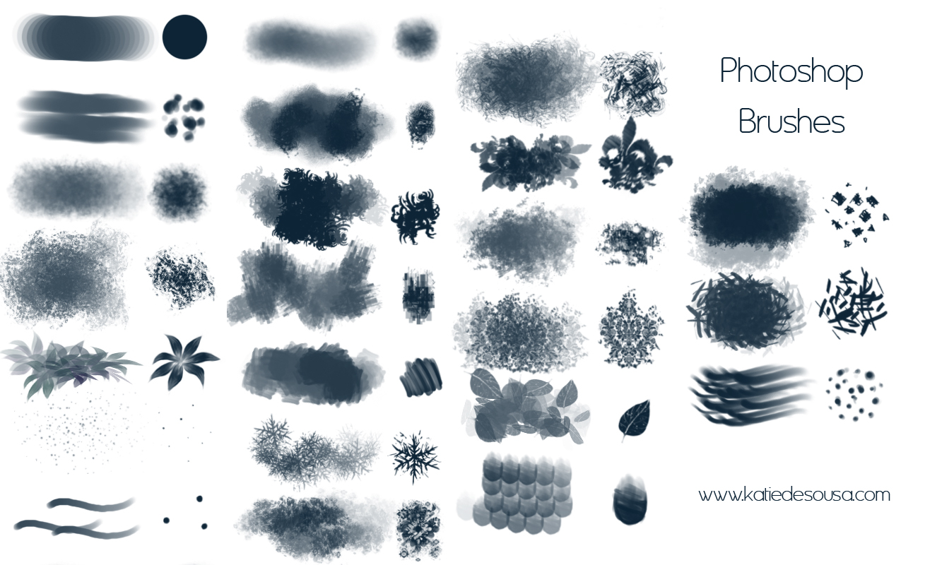 15 Free Photoshop Drawing Painting Brush Sets Graphicsfuel