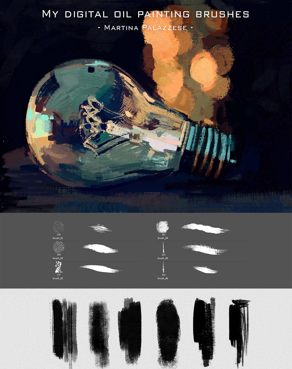 Digital Oil Painting Brushes