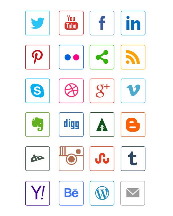 social-media-line-icons