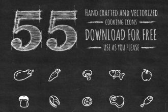 55 Handcrafted Vector Cooking Icons