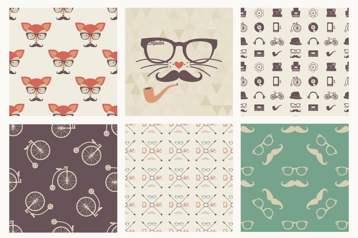 Exclusive: Free Hipster Seamless Patterns from Vecteezy ...