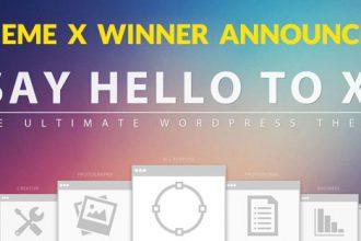 WordPress Theme X 2.0 Winner Announced