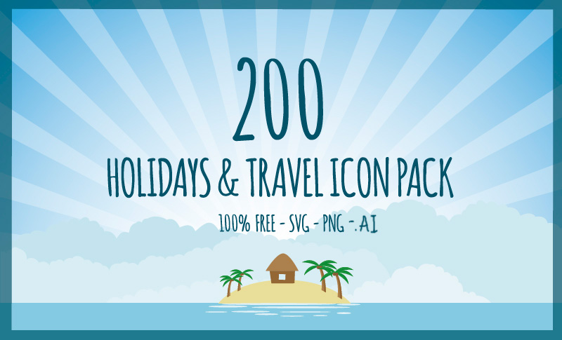 Holiday Travel Icons Pack