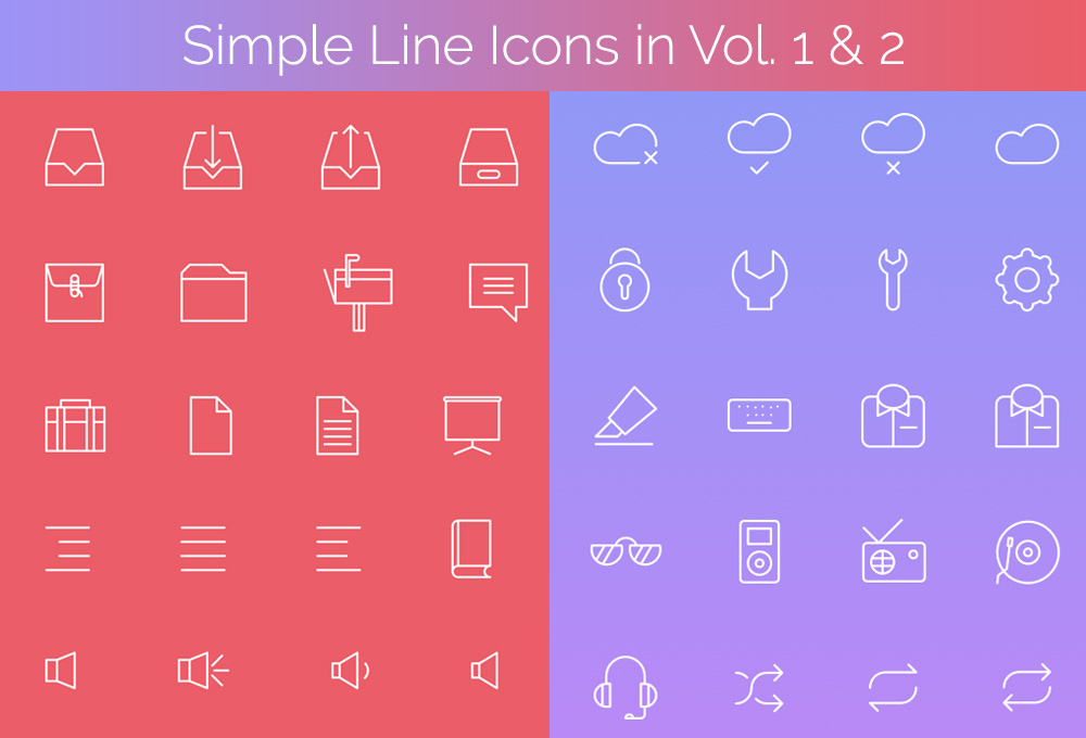 200+ Free Simple Line Icons