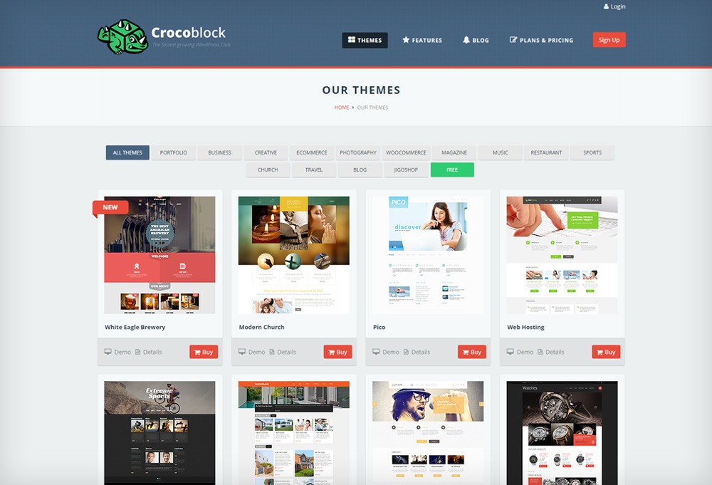 Giveaway: Win WordPress Themes from CrocoBlock