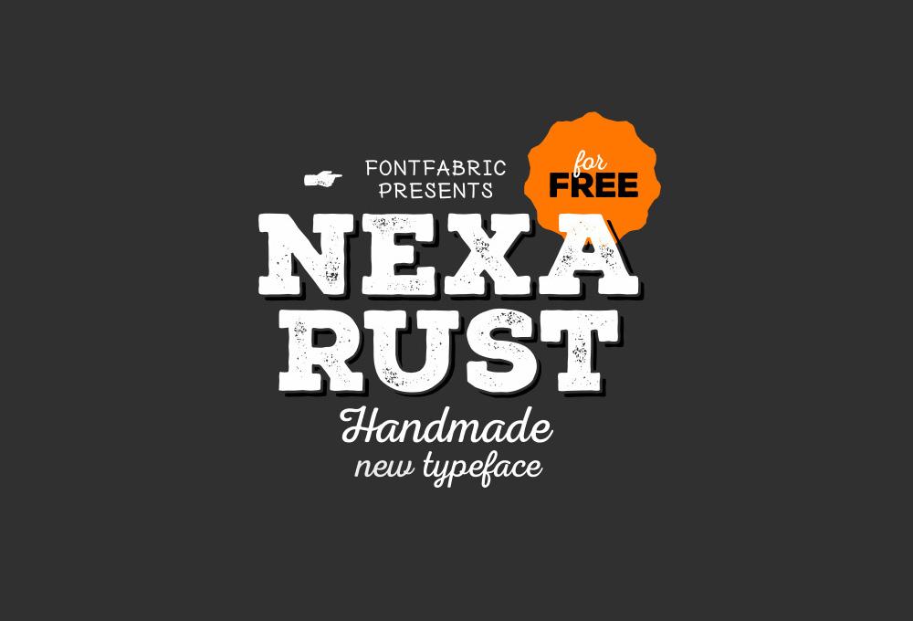 Nexa Rust 5 Free Fonts