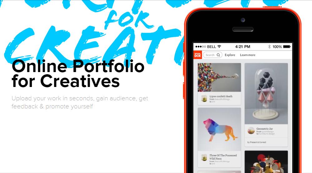 Create Your Online Portfolio With Socialdoe